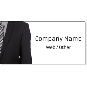 Business Man Suit Magnetic Sign | Set of 2