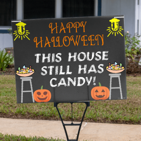 Candy Here Halloween Yard Sign