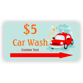 Car Spray Car Wash Banner - 3' x 6'