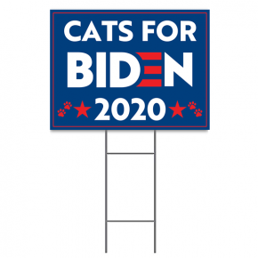 "Cats for Biden Sign | 18"" x 24"" Yard Sign"