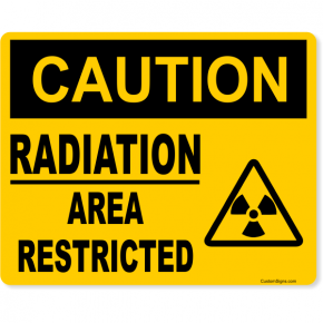 "Caution Radiation Area Restricted Full Color Sign | 8"" x 10"""