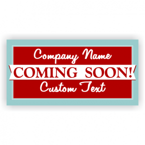 Classic Coming Soon Banner - 3' x 6'