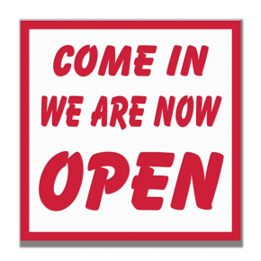 Come In We Are Open For Business Engraved Sign