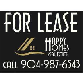Custom For Lease Sign with Company Logo