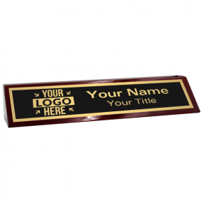 """Custom Text Desk Block with Logo 