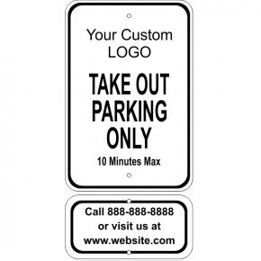 Customer Take Out w/ Contact Info Aluminum Sign Bundle