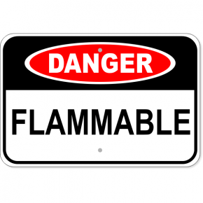"Danger Flammable Aluminum Sign | 12"" x 18"""