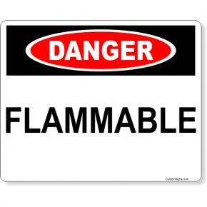 "Danger Flammable Full Color Sign | 8"" x 10"""