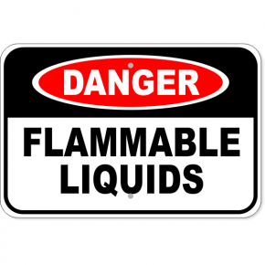 "Danger Flammable Liquids Aluminum Sign | 12"" x 18"""