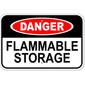 "Danger Flammable Storage Aluminum Sign | 12"" x 18"""