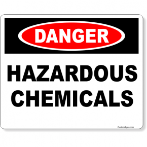 "Danger Hazardous Chemicals Full Color Sign | 8"" x 10"""