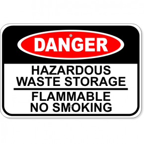 "Danger Hazardous Waste Aluminum Sign | 12"" x 18"""