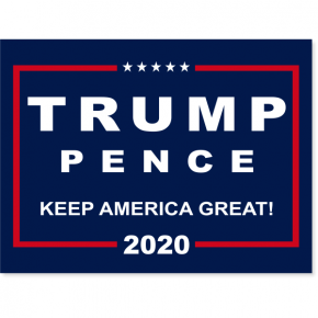 "Donald Trump Presidential Campaign Yard Sign | 18"" x 24"""
