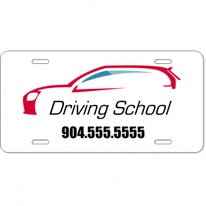 Driving School License Plate