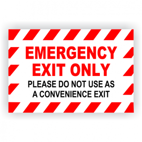 "Emergency Exit Only Vinyl Decal - 6"" x 9"""