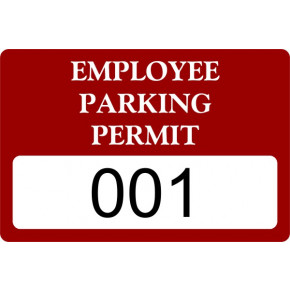Employee Parking Bumper Sticker