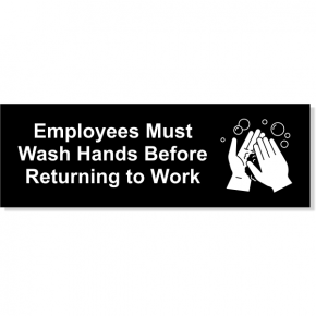 "Employees Must Wash Hands Decal | 2"" x 6"""