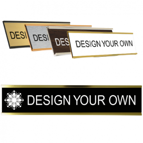 Engraved Wall Nameplates with Holder (Traditional Aluminum)