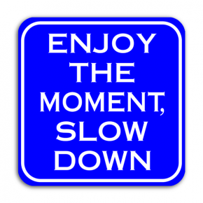 Enjoy The Moment, Slow Down Sign