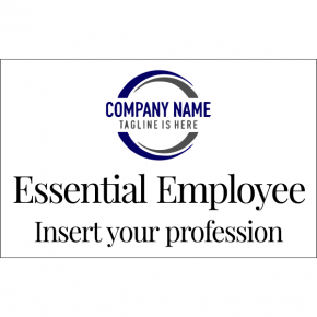 "Essential Employee With Logo Decal | 5"" x 8"""