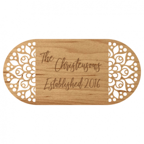 "Established Fancy Wooden Anniversary Sign | 6"" x 12"""