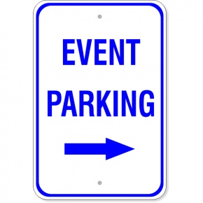 Event Parking Right Arrow Sign