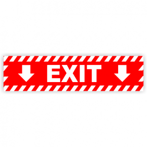 "Exit Vinyl Decal Down Arrows - 6"" x 24"""