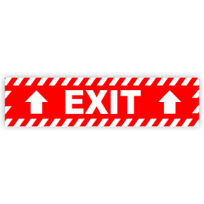 "Exit Vinyl Decal Up Arrows - 6"" x 24"""