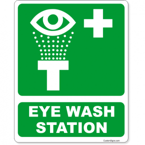 "Eye Wash Station Icon Full Color Sign | 10"" x 8"""