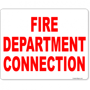 "Fire Department Connection Full Color Sign | 8"" x 10"""
