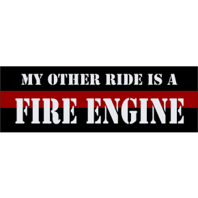 Fire Engine Bumper Sticker