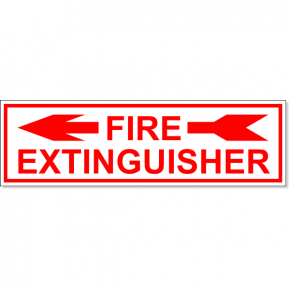 "Fire Extinguisher Left Arrow Engraved Plastic Sign | 3"" x 10"""