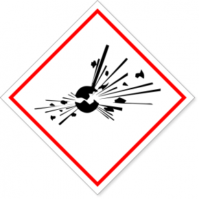 "GHS Bomb Exploding Hazard Decal | 6"" x 6"""