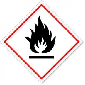 "GHS Flammable Hazard Decal | 6"" x 6"""