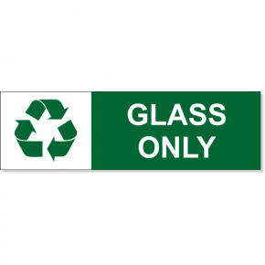 "Glass Recycle Decal | 3"" x 10"""