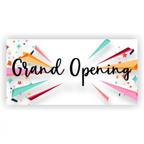 Grand Opening Banner - 3' x 6'