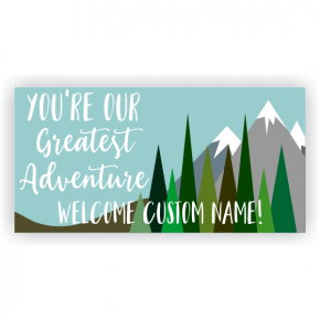 Greatest Adventure Baby Shower Banner - 3' x 6'