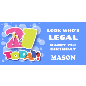 Happy 21st Birthday for Boy Banner