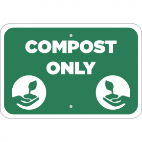 Horizontal Compost Only Conserve Sign