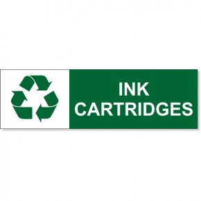 "Ink Cartridge Recycle Decal | 3"" x 10"""