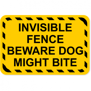 "Invisible Fence Dog Bite Decal | 4"" x 6"""