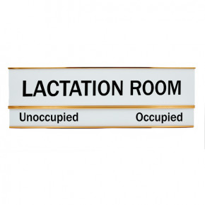 Lactation Room Unoccupied Occupied Sign 3 x 8 Slide Sign