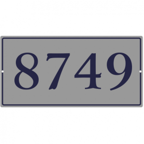 "Large Rectangle Border House Number Sign | 8"" x 16"""