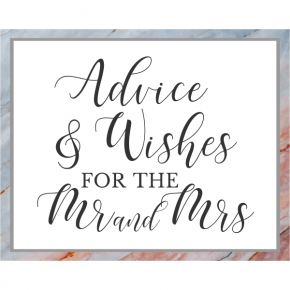 Marble Sunrise Advice & Wishes Sign