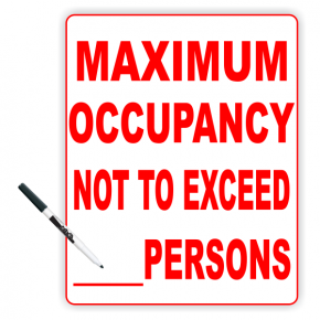 """Maximum Occupancy Do Not Exceed Number Sign  