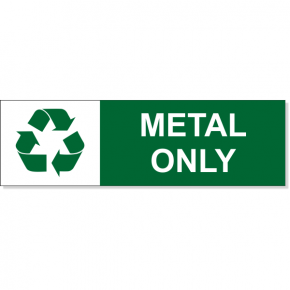 "Metal Recycle Decal | 3"" x 10"""