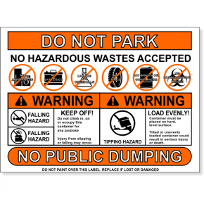 "Multi Message Container Safety Decal | 8"" x 11"""