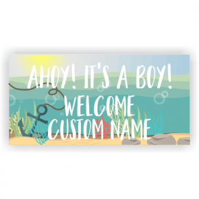 Nautical Baby Shower Banner - 3' x 6'