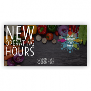 New Hours Grocery Banner - 3' x 6'