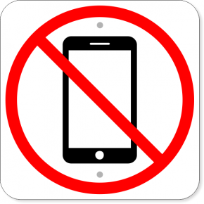 "No Cell Phone Aluminum Sign | 12"" x 12"""